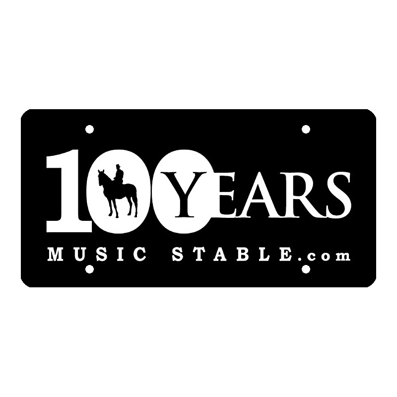 100 Years Music Stable.com – License Plate – 100 Years Music Stable